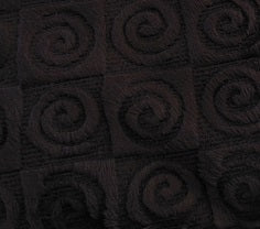 Fabric square- chocolate brown swirl velour