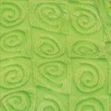Fabric square- kiwi green swirl velour