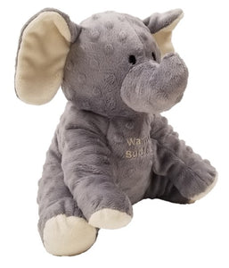 Baby elephant: puppet stuffed animal angle, raised dot gray fur, big floppy ears, stitched eyes