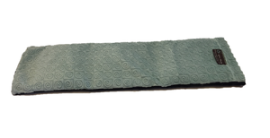 "Spa wrap -top angle view -long rectangle shoulder heating pad 7""x24"" -aqua swirl velour"