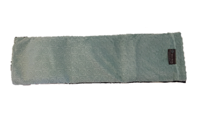 "Spa wrap - top view -long rectangle shoulder heating pad 7""x24"" -aqua swirl velour fabric"