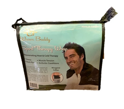 Aromatherapy Sport Therapy Wrap - zippered plastic package - photo heat wrap around shoulders of a man