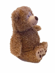 "Tan Little Buddy Beary-microwave heated teddy bear 11""- front right angle view"