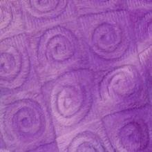 Fabric square -purple violet swirl velour