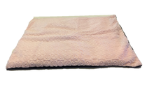 "Square microwavable warming blanket 15""x19""-soft pink swirl - top angle view"