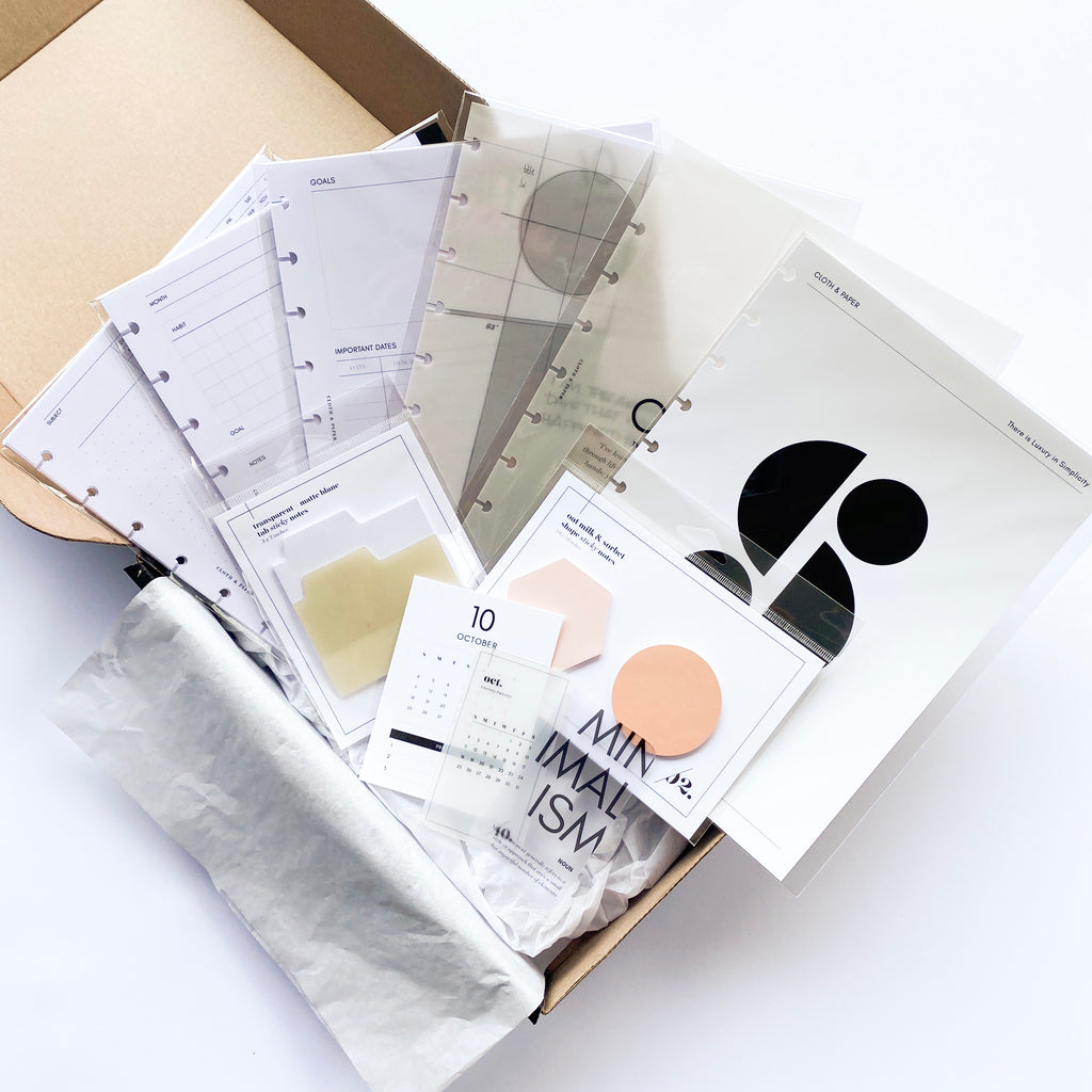 August 2020 | Planning + Stationery Unboxing