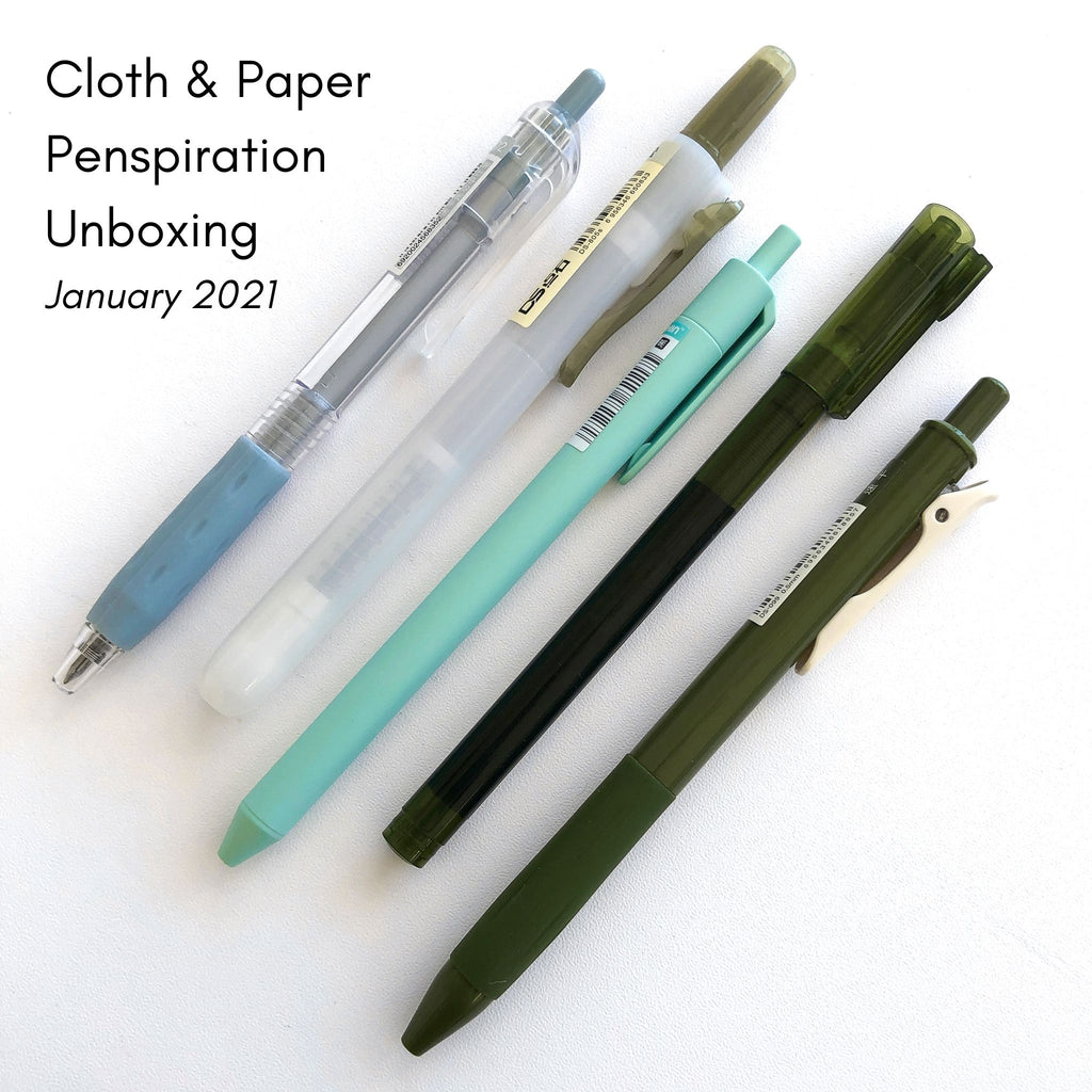 JANUARY 2021 | CLOTH & PAPER PENSPIRATION UNBOXING