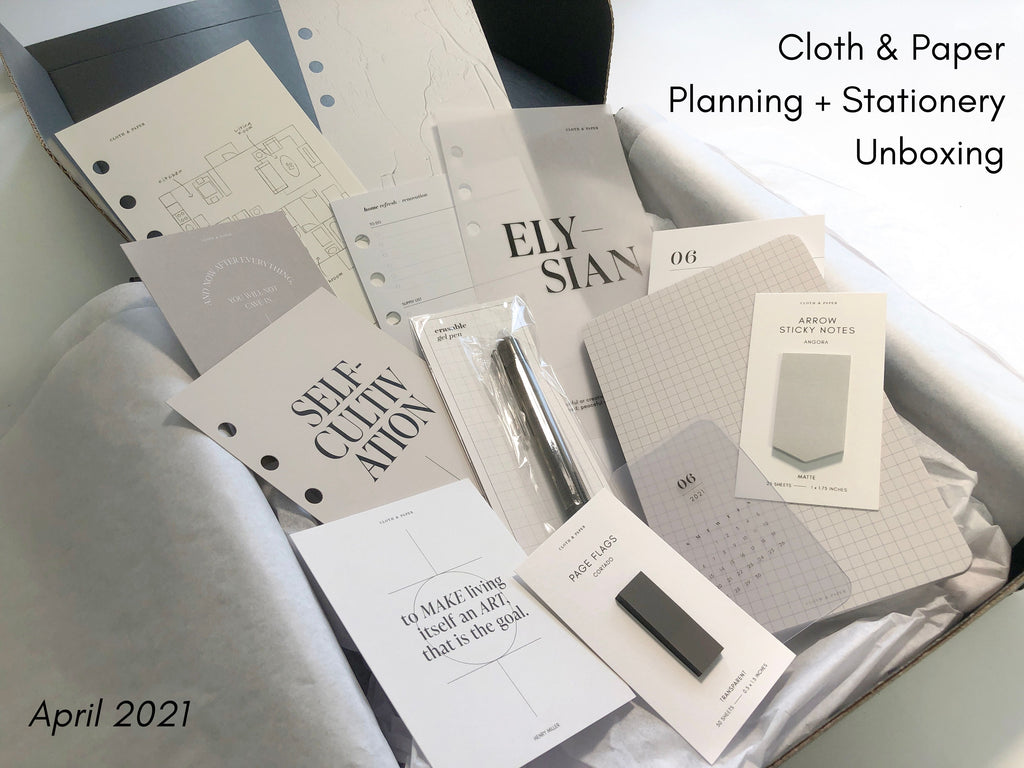 April 2021 | Cloth & Paper Planning + Stationery Unboxing | Planner Subscription Box