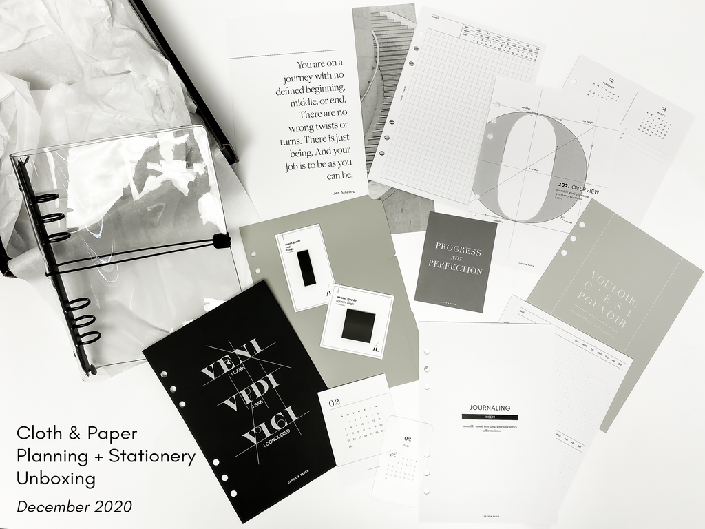 December 2020 | Cloth & Paper Planning + Stationery Unboxing