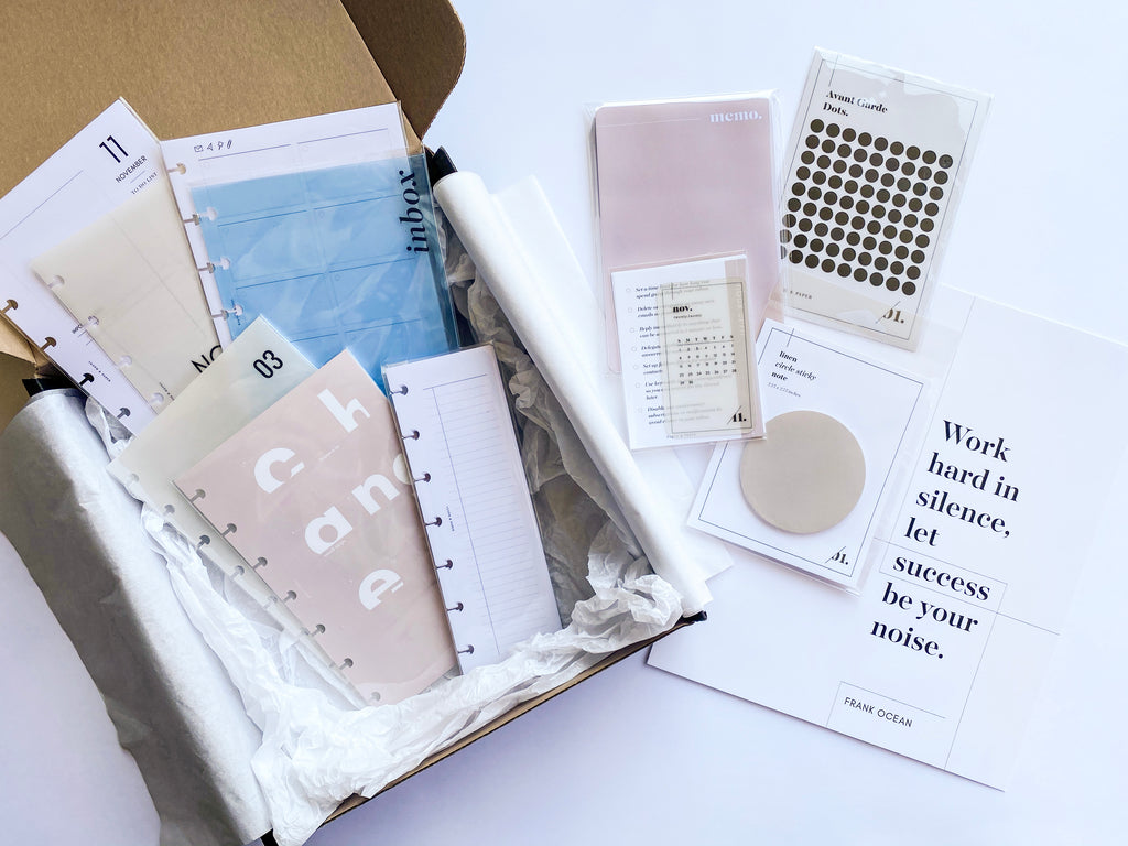 September 2020 | Planning + Stationery Unboxing