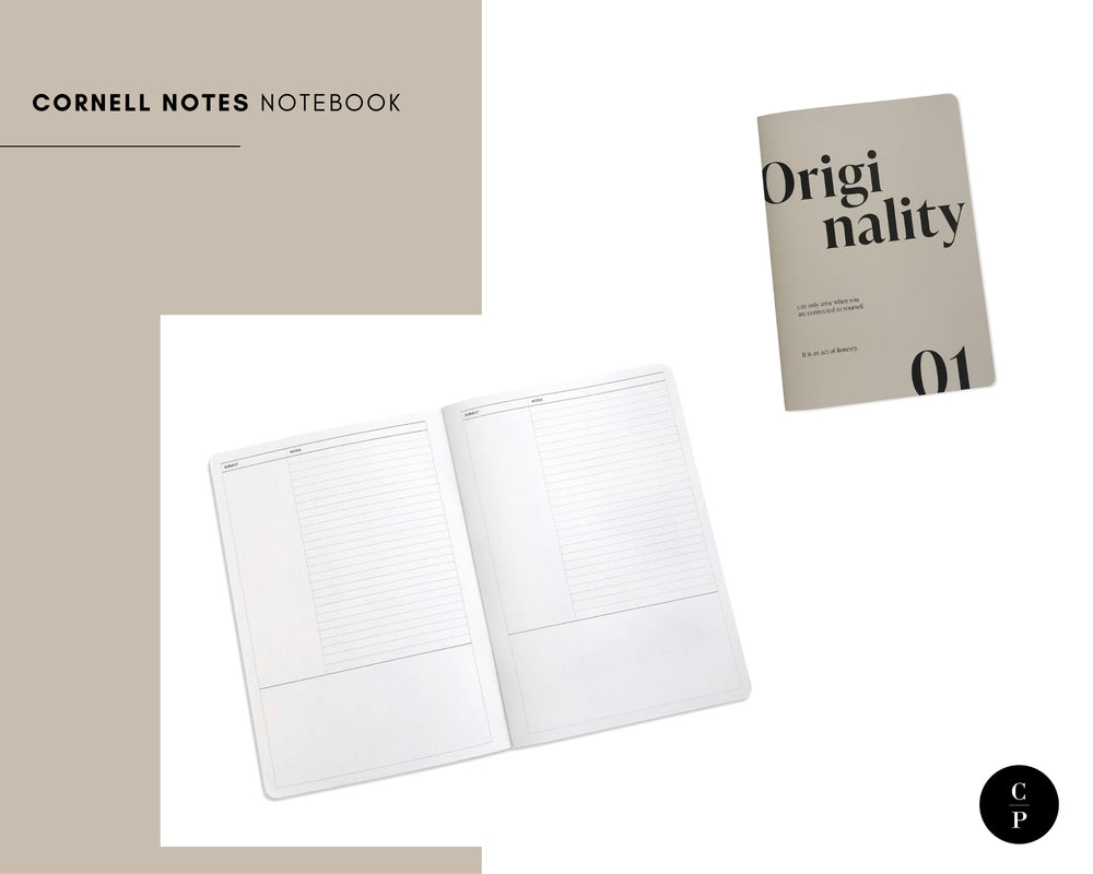 Cornell Notes Notebook | Short Story Capsule Collection | Cloth & Paper