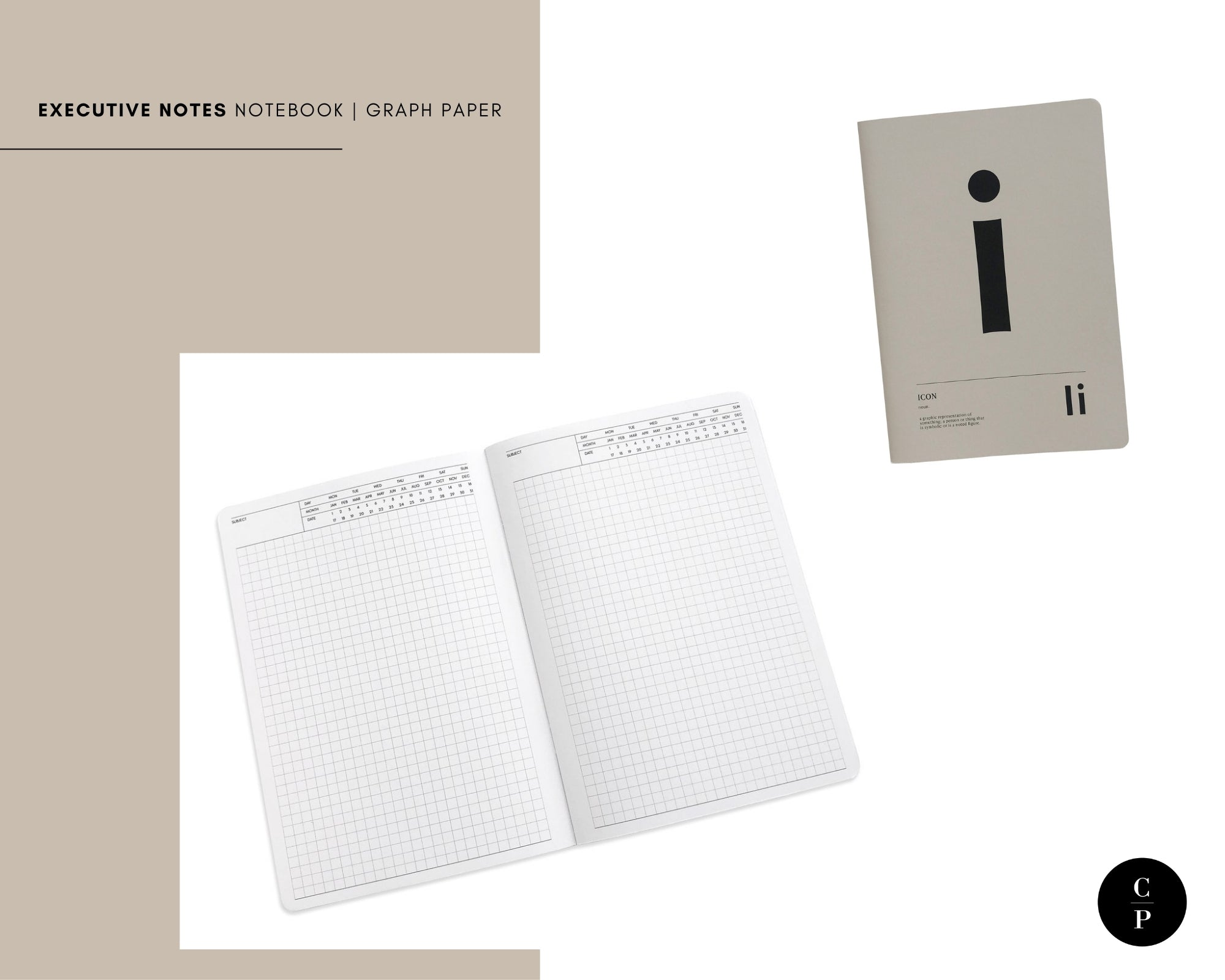 Executive Notes Notebook | Graph | Short Story Capsule Collection | Cloth & Paper