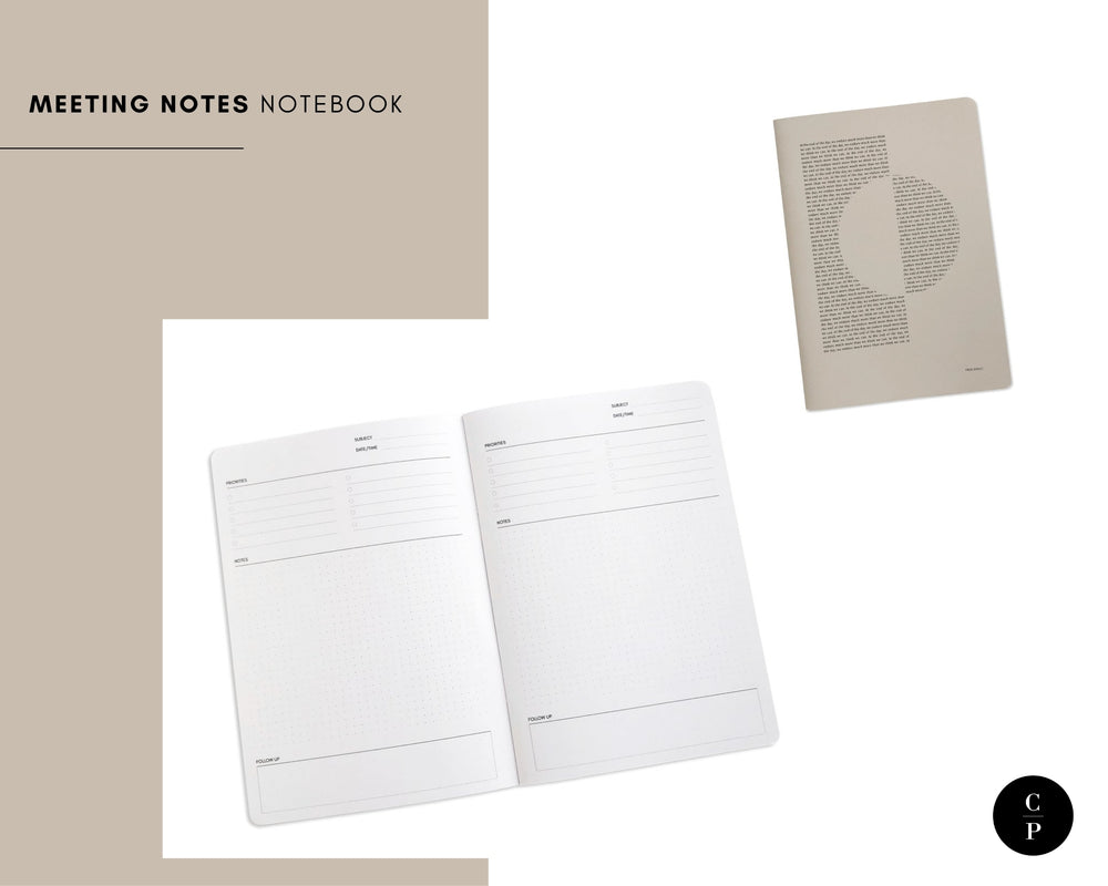 Meeting Notes Notebook | Short Story Capsule Collection | Cloth & Paper