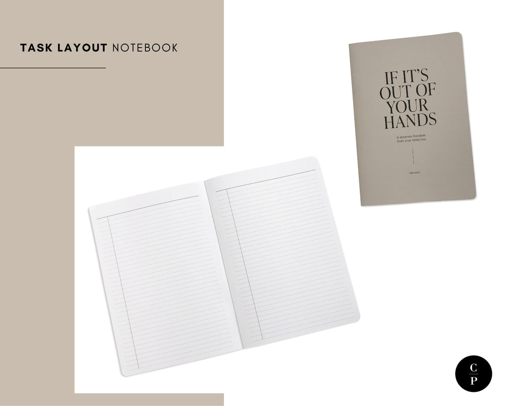 Task Layout Notebook | Short Story Capsule Collection | Cloth & Paper