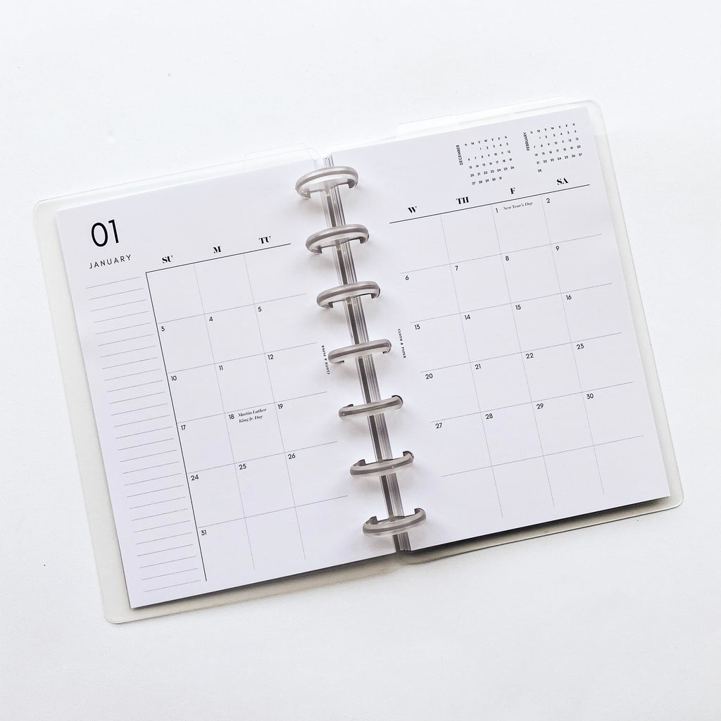 2021 DATED PLANNER INSERTS | MONTHLY | SUNDAY START