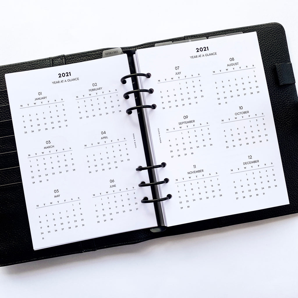 2021 DATED PLANNER INSERTS | VERTICAL WEEKLY | MONDAY START