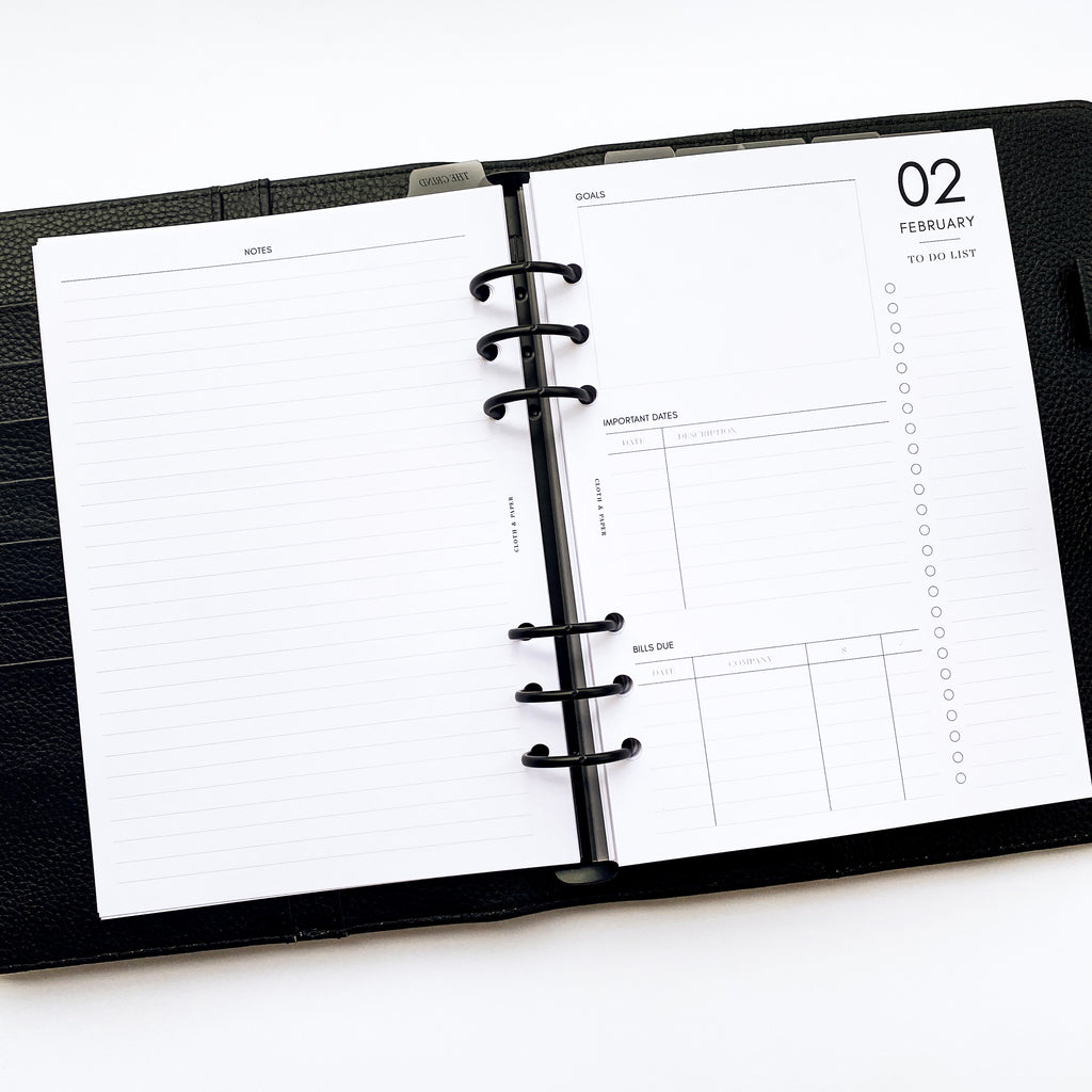 2021 DATED PLANNER INSERTS | VERTICAL WEEKLY | SUNDAY START