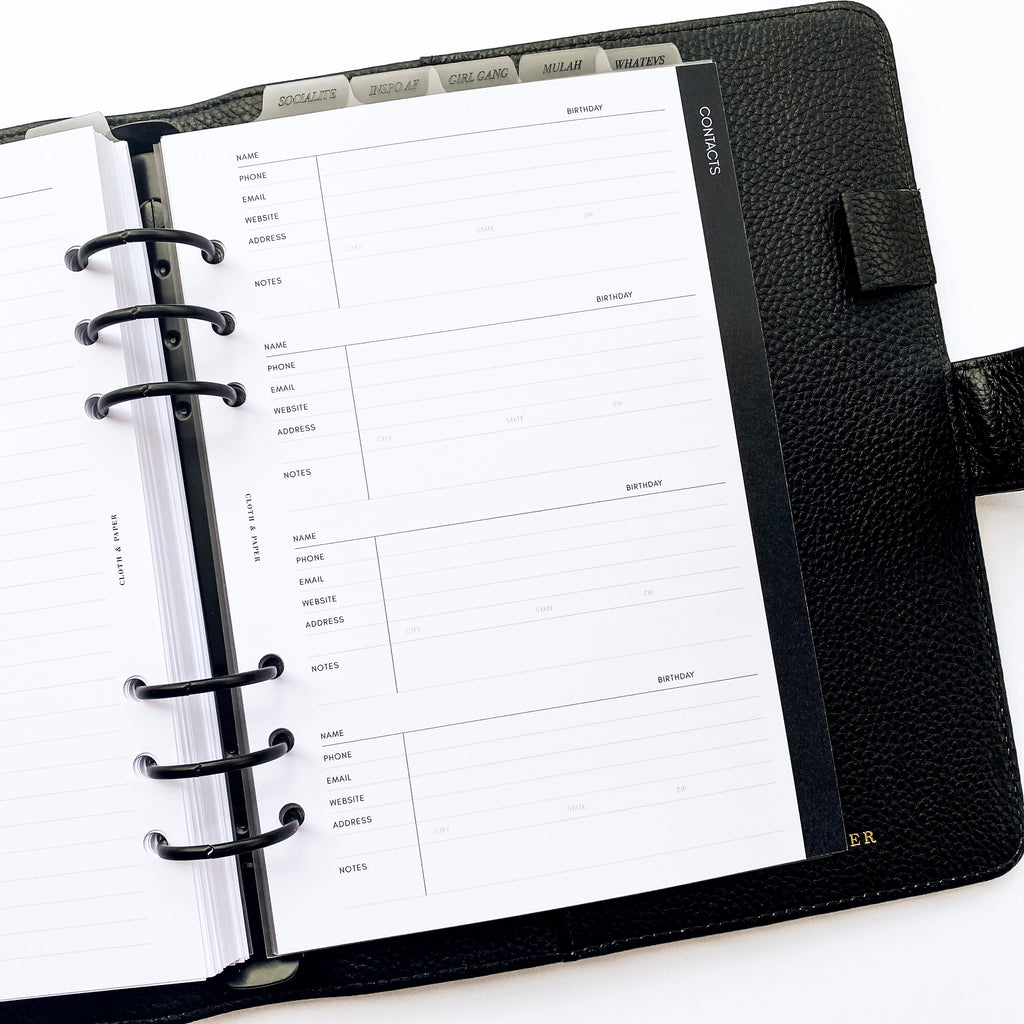 2021 DATED PLANNER INSERTS | VERTICAL WEEKLY BLANK | SUNDAY START
