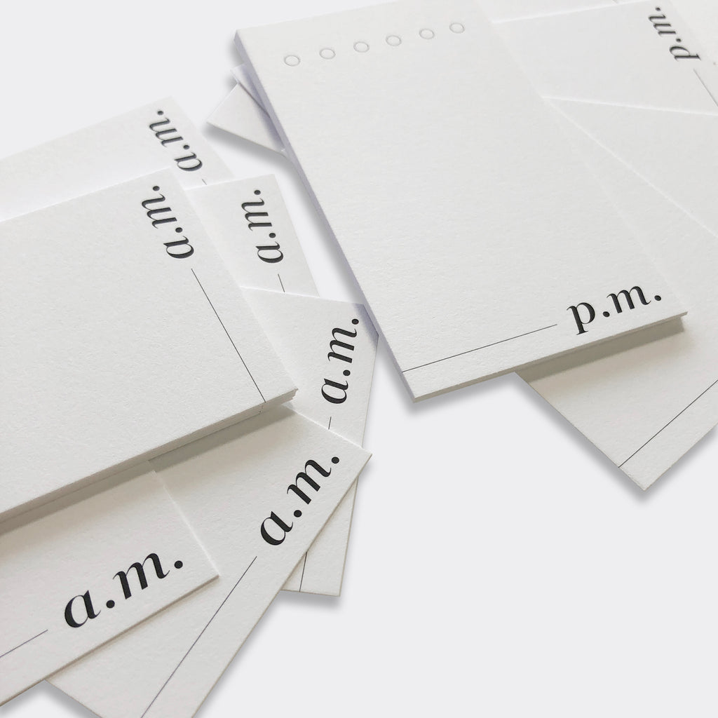 AM/PM Minimal Task Card Set | Cloth & Paper | Daily Habit Tracking Task Cards