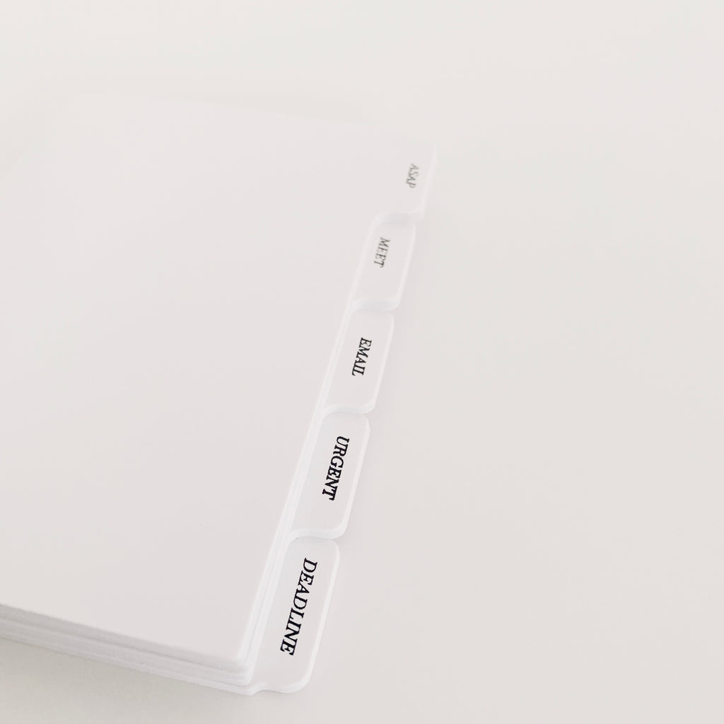 Divider sticky notes Cloth and Paper