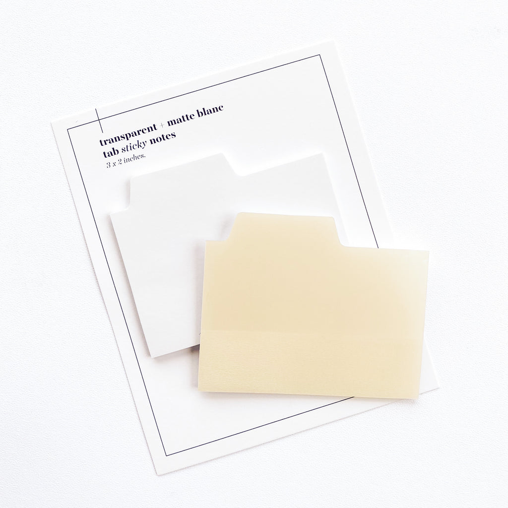 Blank Tab Sticky Note Set | Blanc