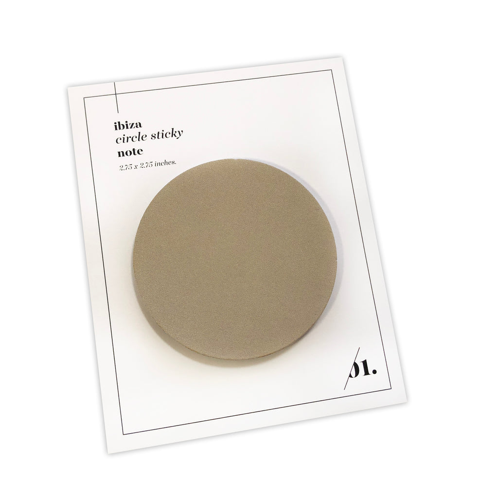 Circle Sticky Notes | Ibiza | Cloth & Paper