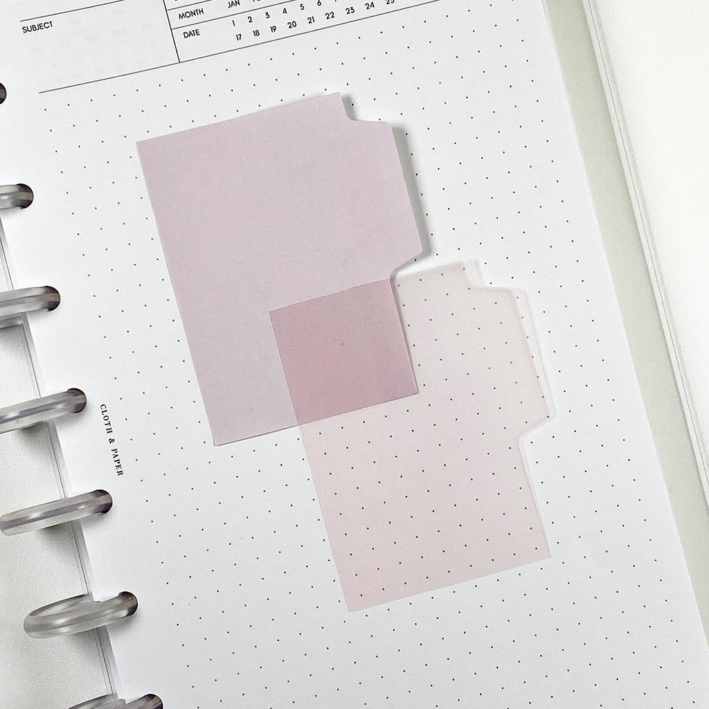 BLANK TAB STICKY NOTE SET | COTTON