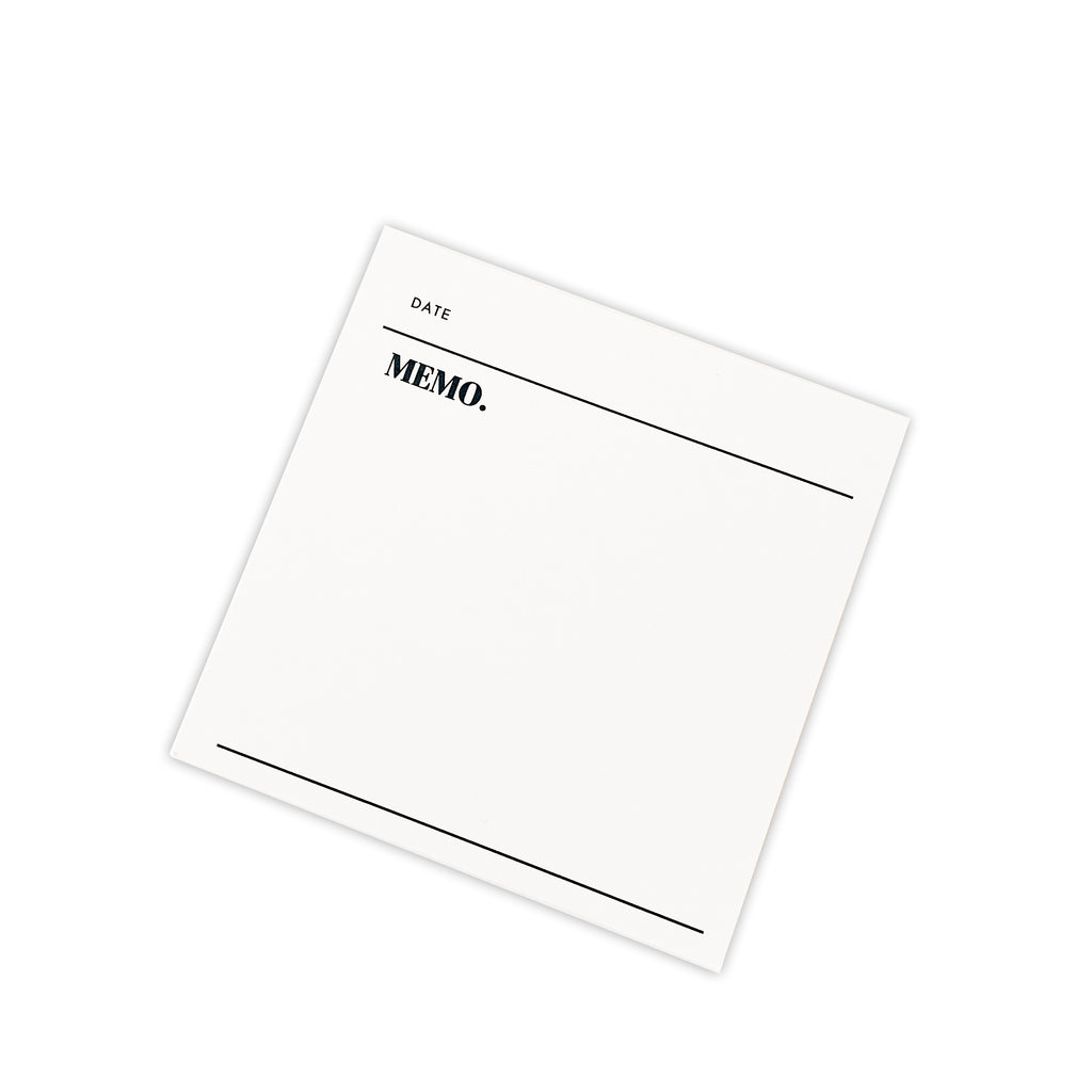 Dated Memo Sticky Notes | Cloth & Paper | Minimal Functional Sticky Notes