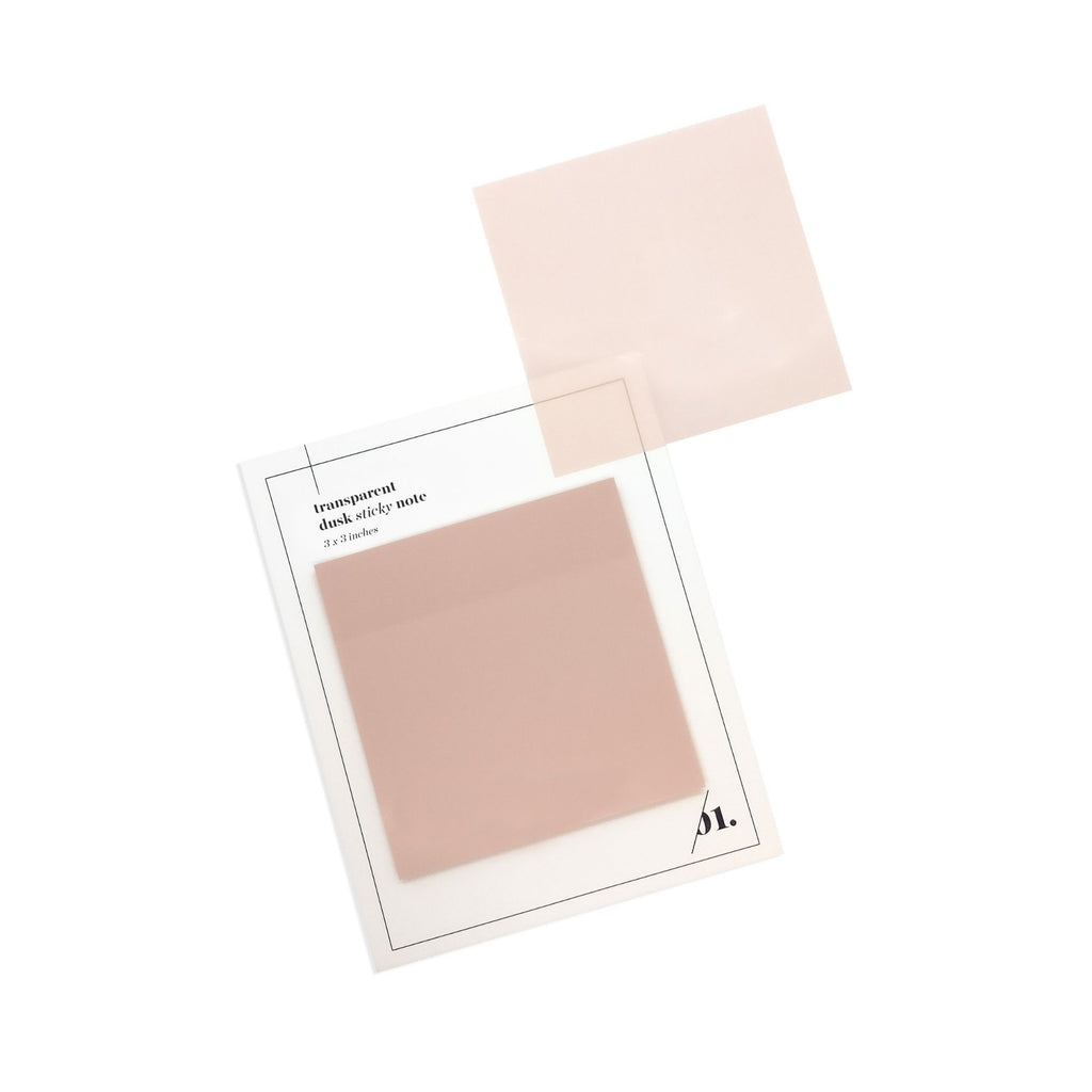 Dusk Transparent Sticky Note | Cloth & Paper | Transparent Sticky Notes for Planners