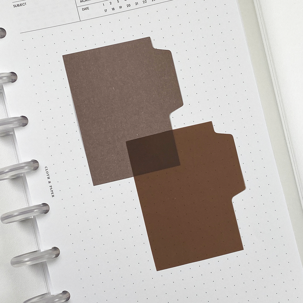 BLANK TAB STICKY NOTE SET | ESPRESSO