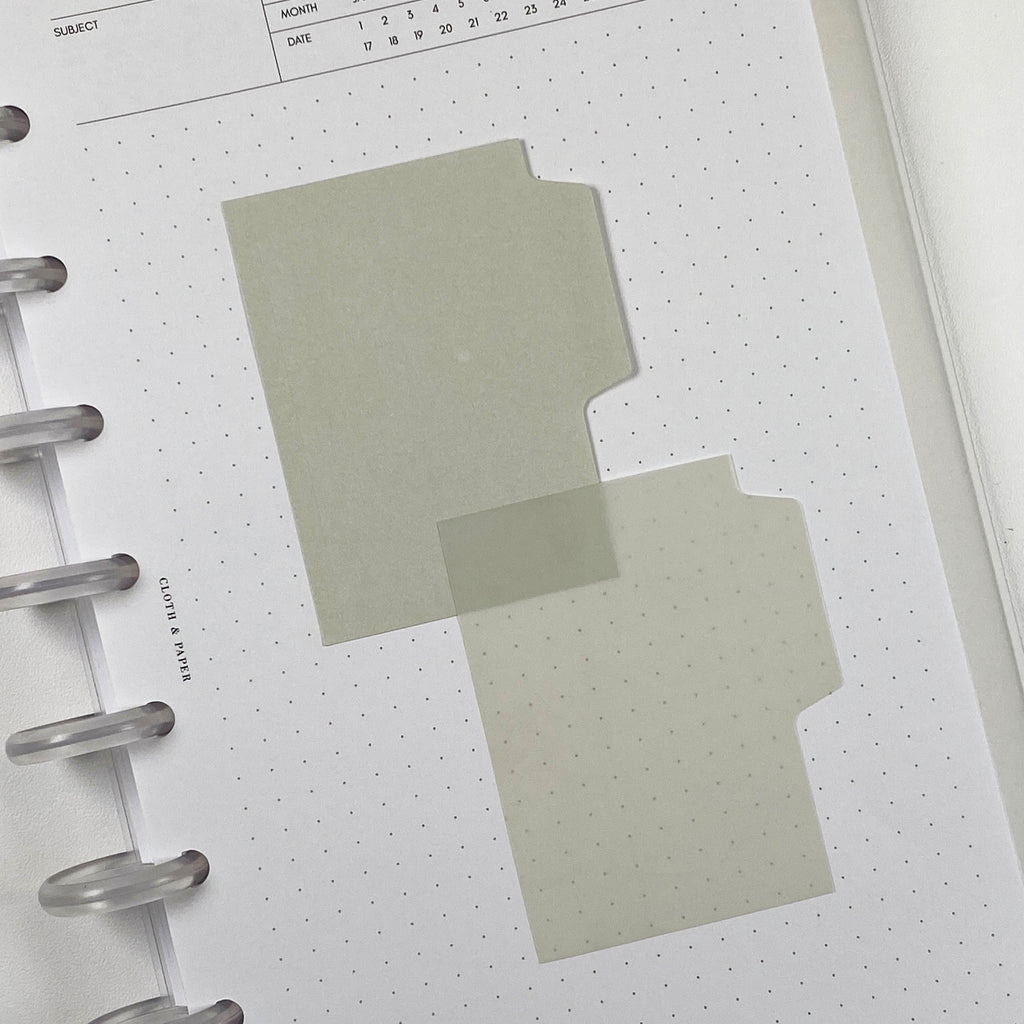 BLANK TAB STICKY NOTE SET | FAWN