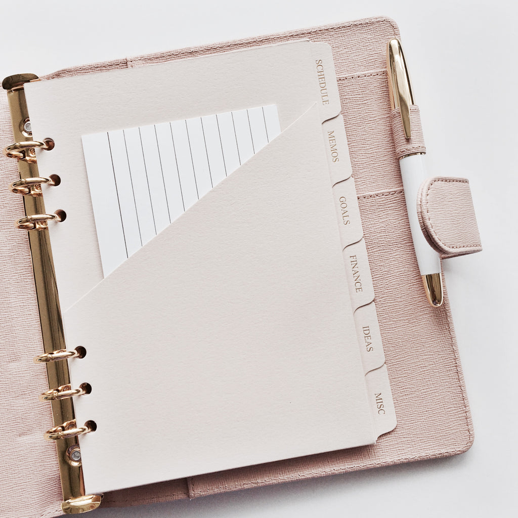 Cloth & Paper planner agenda pocket
