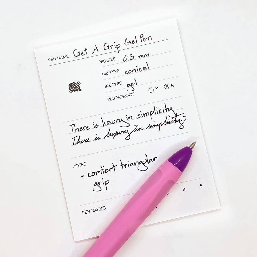 GET A GRIP GEL PEN | PINK & PURPLE