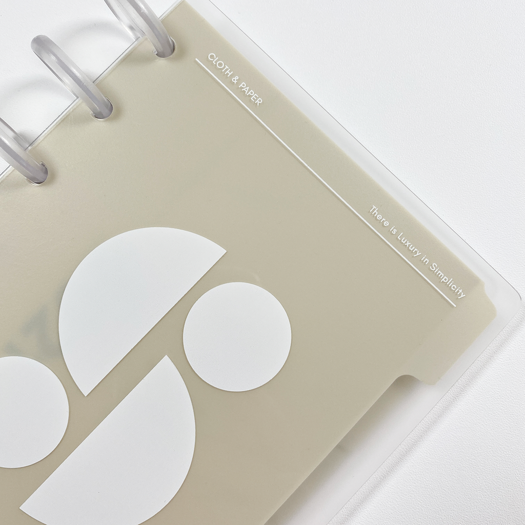 Glass Plastic Disc-Bound Notebook Covers | Simplicity