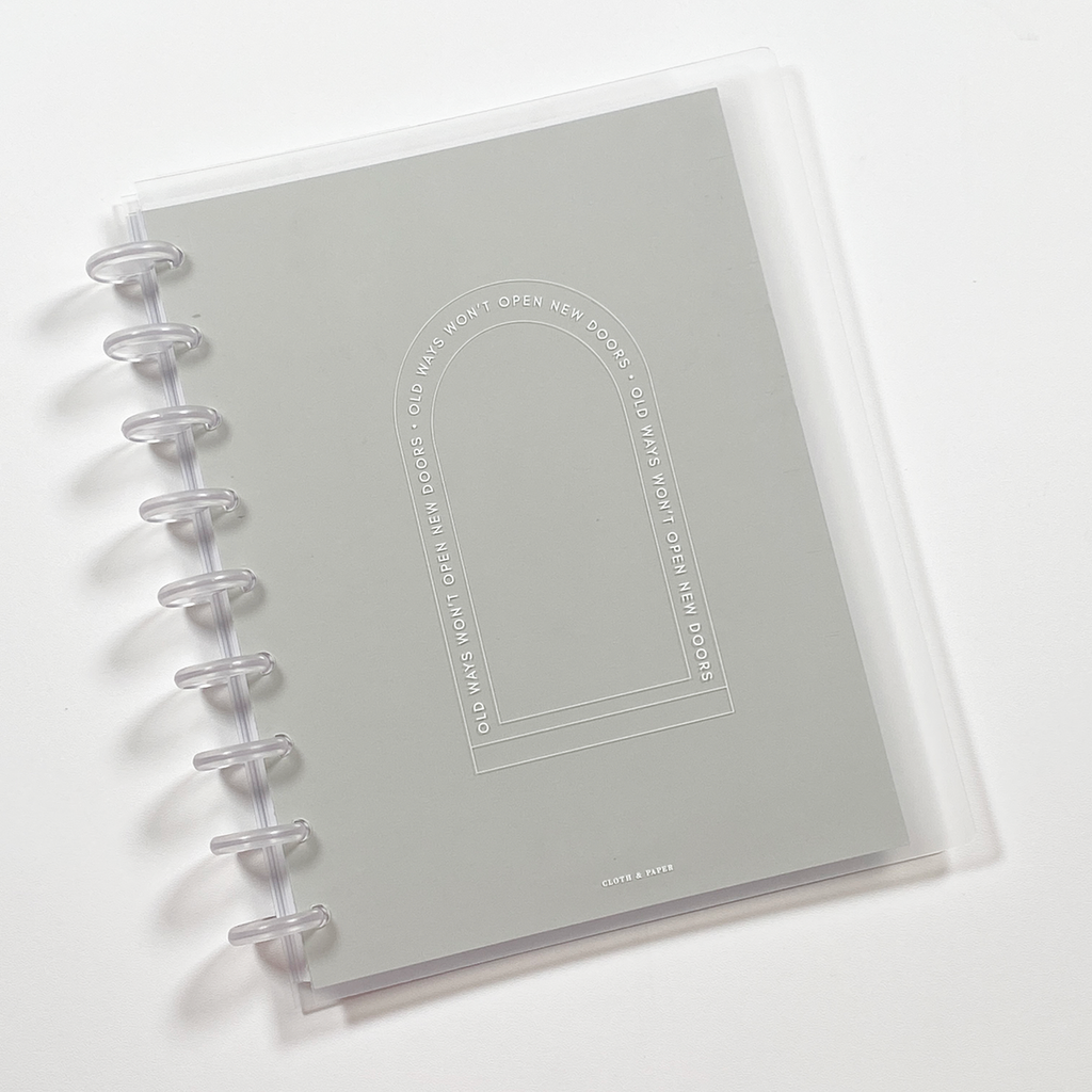 Glass Plastic Disc-Bound Notebook Covers | New Doors