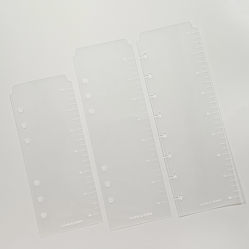 Glass Plastic Page Marker | Cloth & Paper | Plastic Planner Ruler