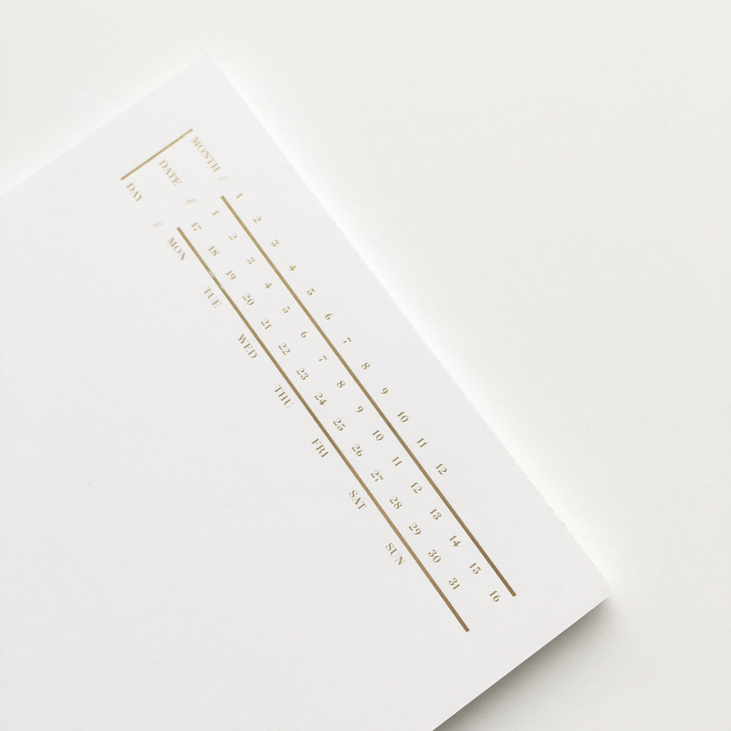 CLOTH & PAPER MINIMAL EXECUTIVE NOTES NOTEPAD