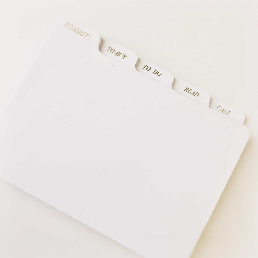 DIVDERS STICKY MEMO TABS CLOTH & PAPER
