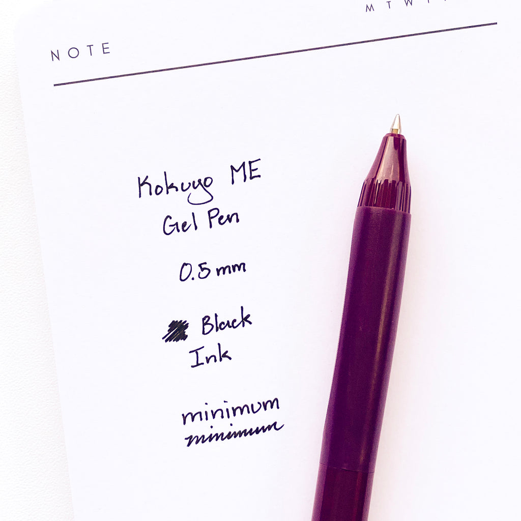 Kokuyo ME Gel Pen | Chic Plum