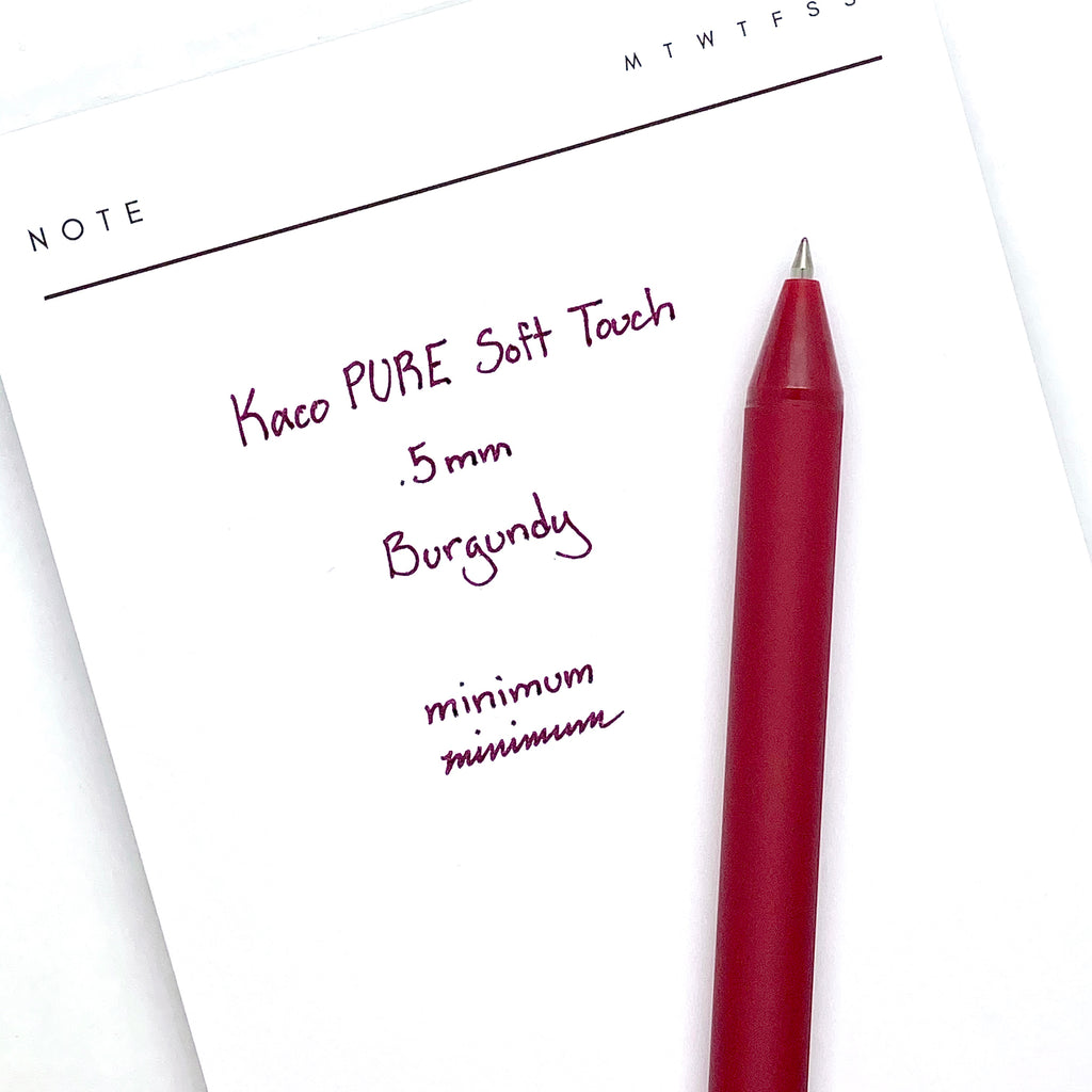 KACO PURE Soft Touch Gel Pen | Burgundy