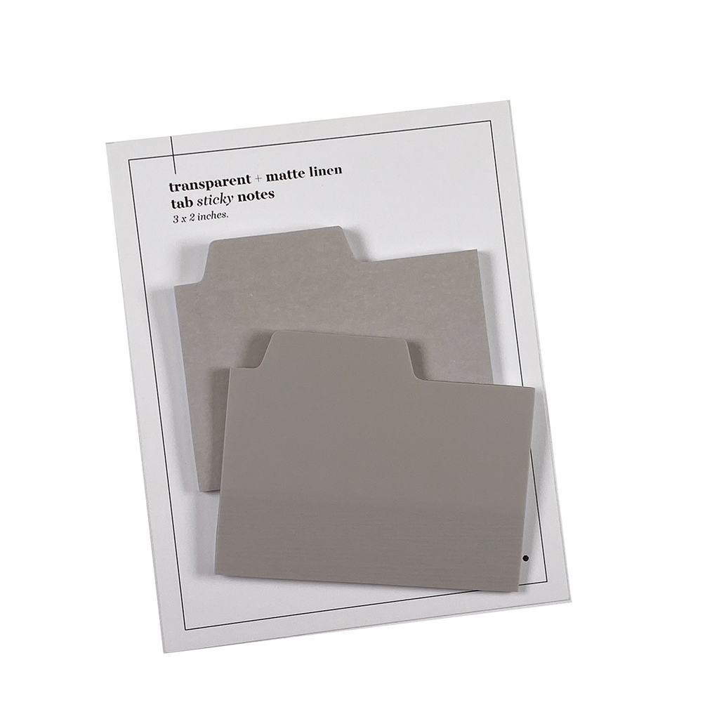 BLANK TAB STICKY NOTE SET | LINEN