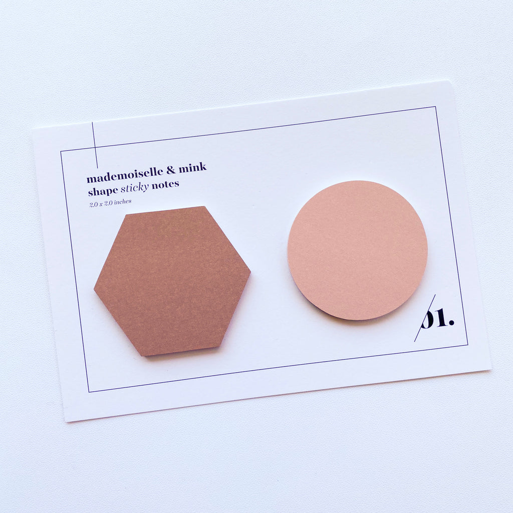Shape Sticky Note Set | Mademoiselle & Mink
