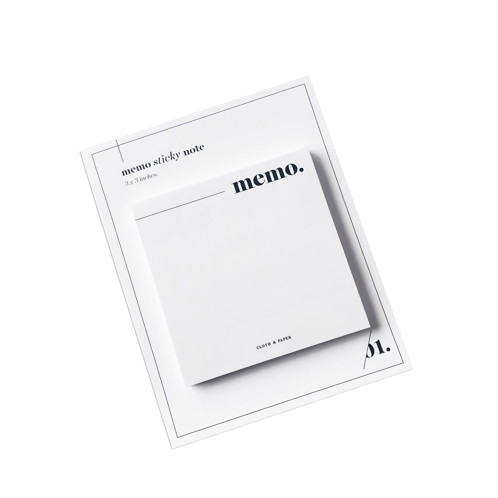 Memo Sticky Notes | Cloth & Paper | Minimal Functional Sticky Note