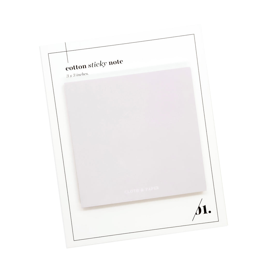 NOTE NEUTRALITY STICKY NOTES | COTTON