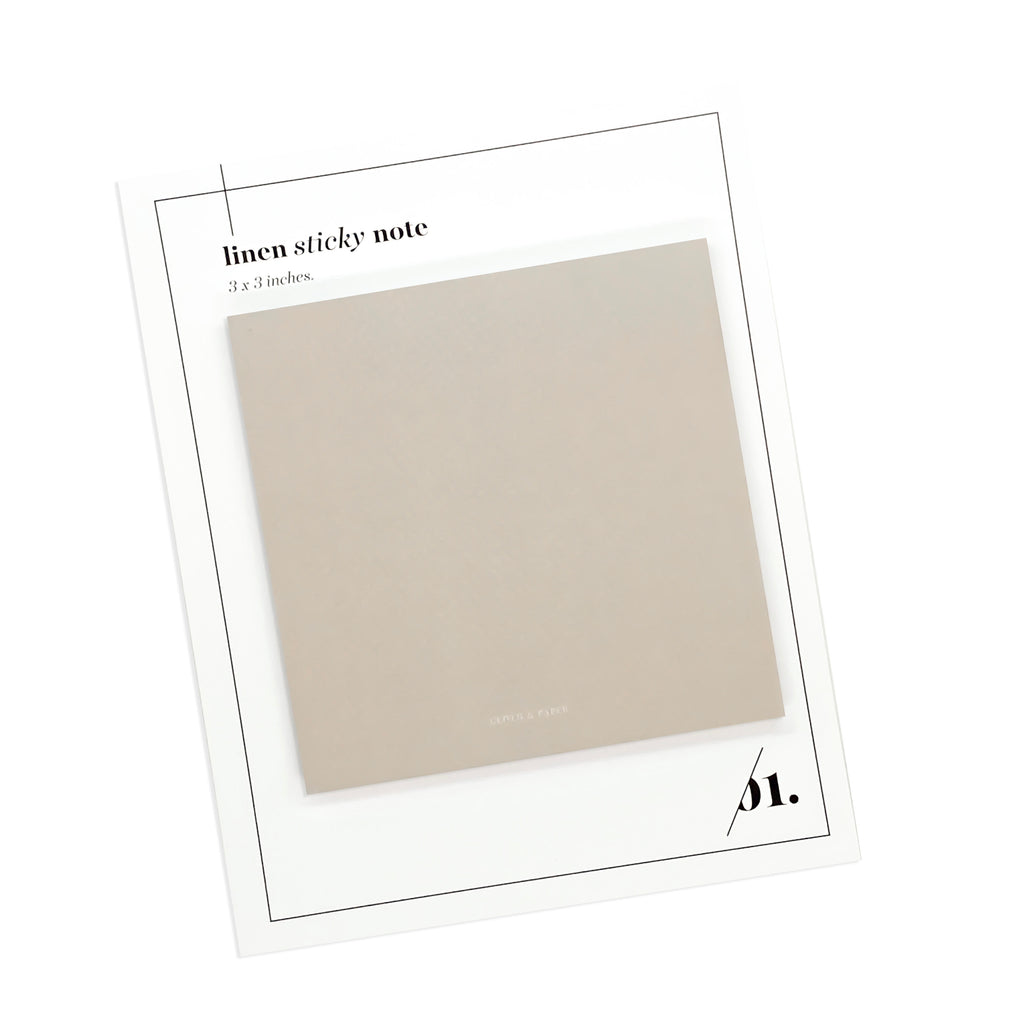NOTE NEUTRALITY STICKY NOTES | LINEN