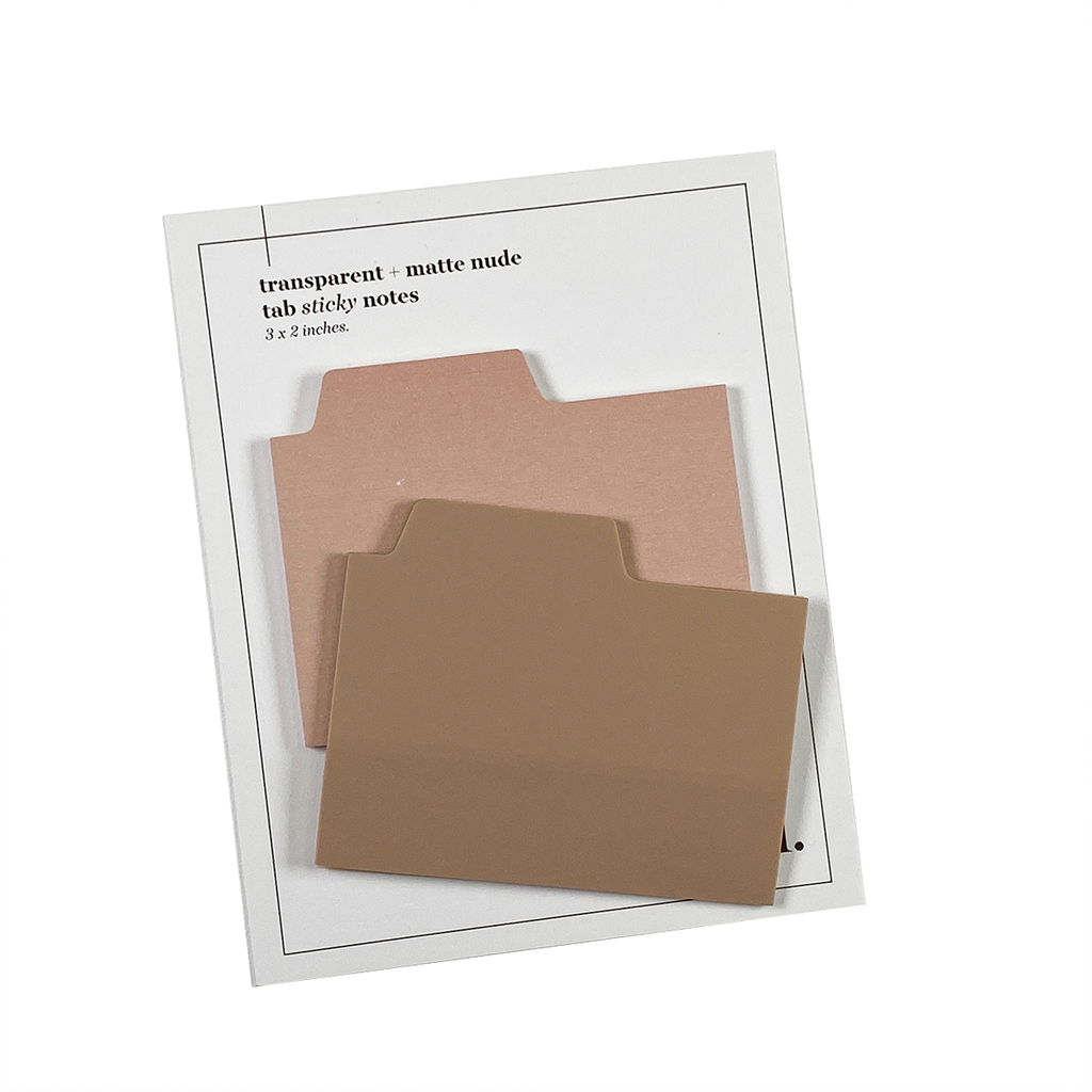 BLANK TAB STICKY NOTE SET | NUDE