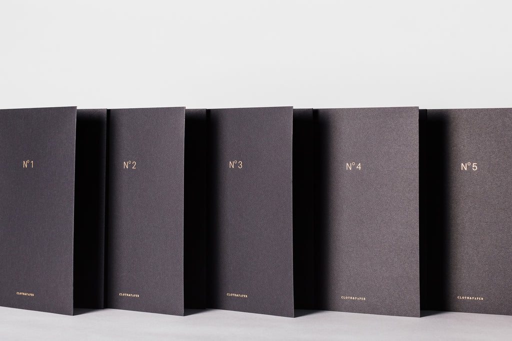 Cloth & Paper Numbers Pocket Folders
