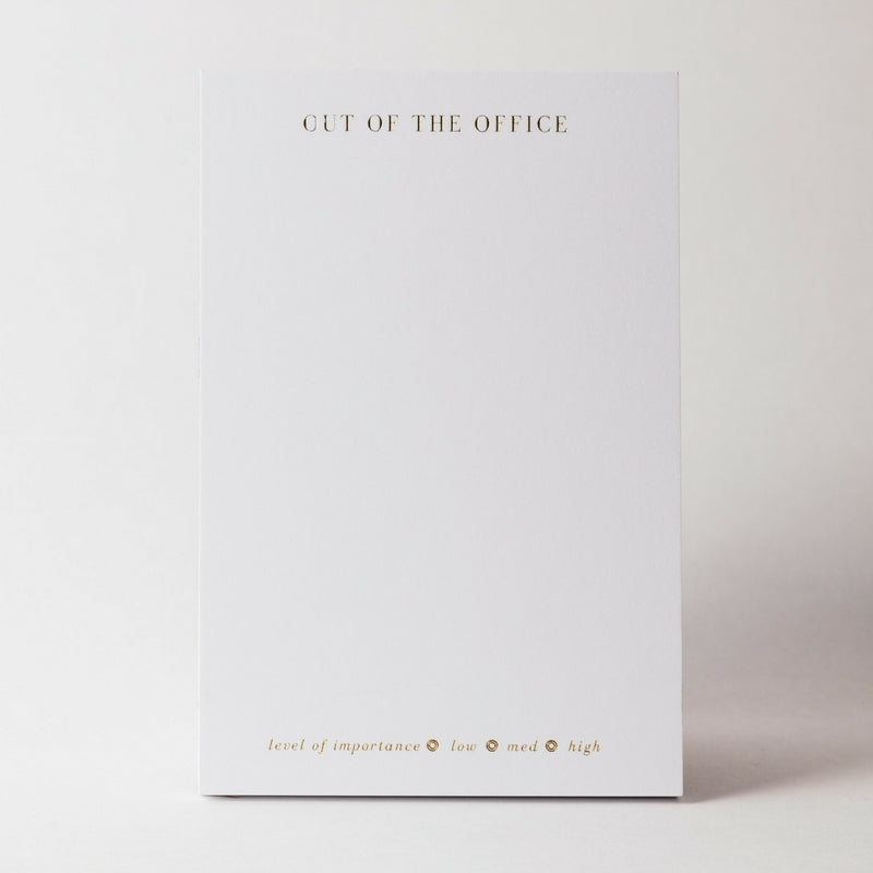 OUT OF THE OFFICE (OOTO) FOILED MEMO PAD