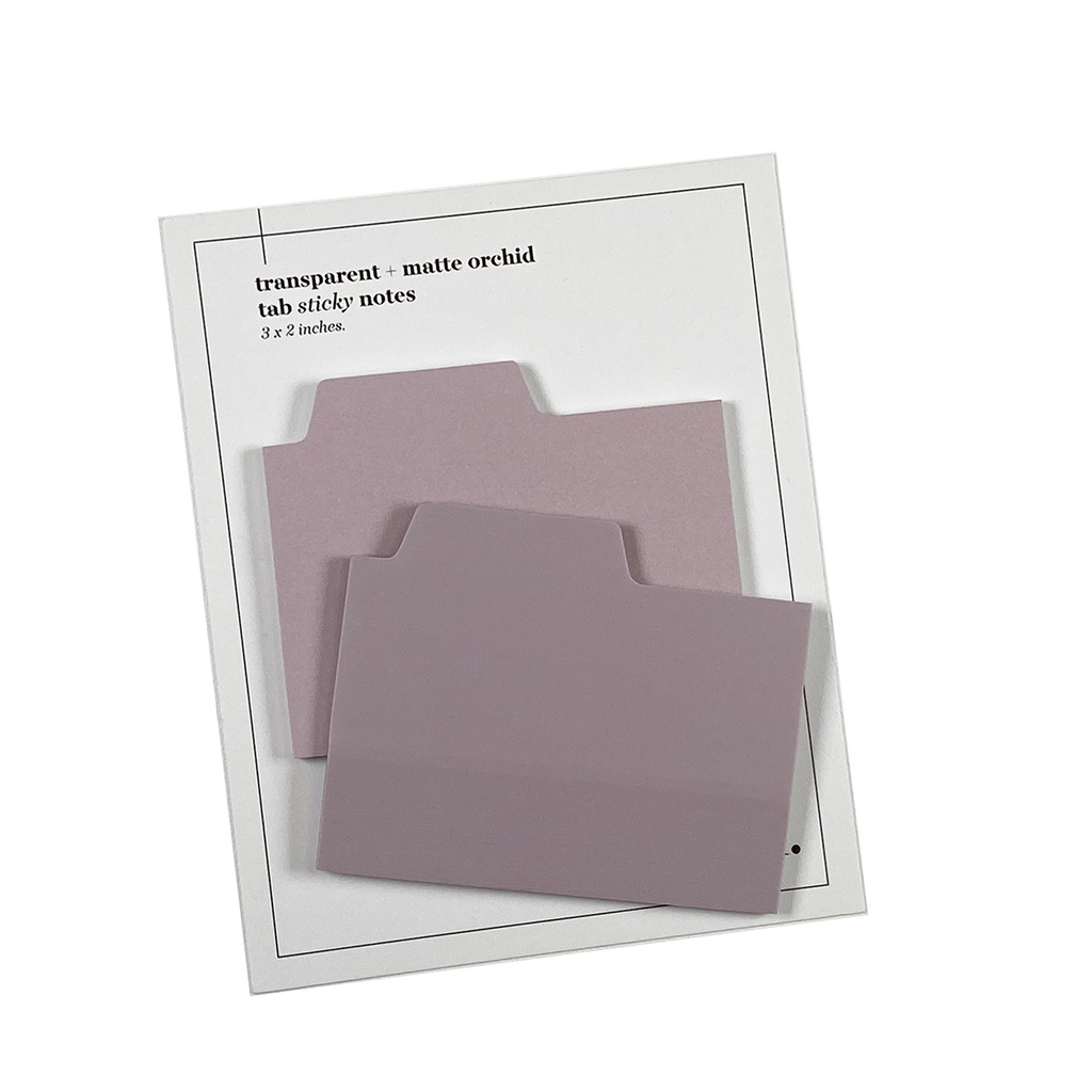 BLANK TAB STICKY NOTE SET | ORCHID