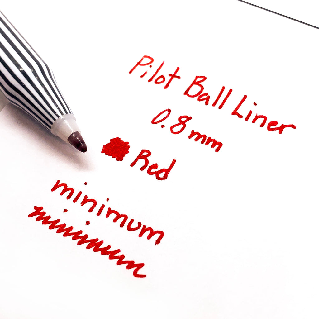 PILOT BALL LINER PEN | RED